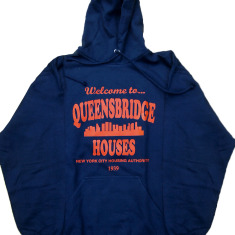 Welcome to Queensbridge Projects Nas Mobb Deep Hooded Sweatshirt Hoody (Navy Blue)
